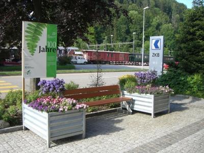 """Aktion """"Die Grüne Bank"""" anlässlich des 100-Jahr Jubiläums"""